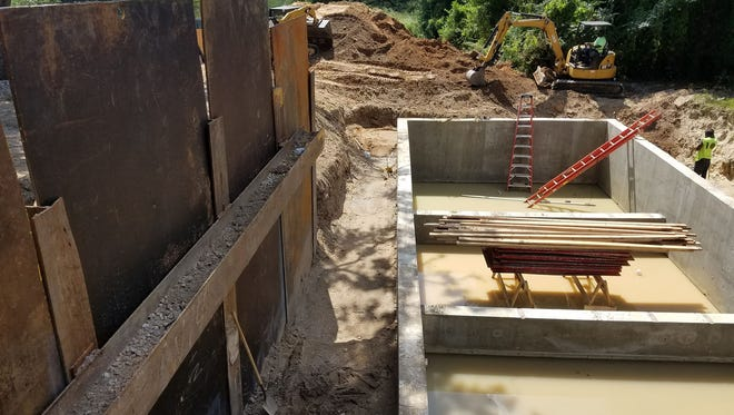 R Street at Maggie's Ditch Stormwater Facility's underground stormwater vault under construction in 2017.