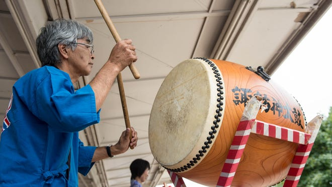 Tetsuro Atsumi plays drums during the Summerfest at McCamly Park in 2015. This year, Summerfest is Aug. 13.
