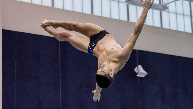 Lakeview diver Levi Youmans.