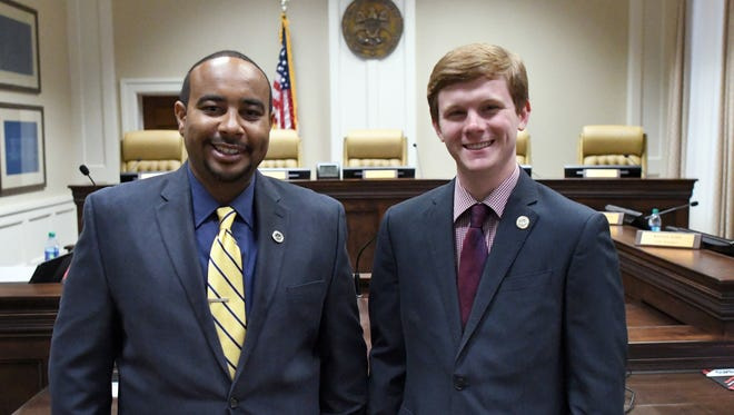 Hattiesburg's new councilmen Jeffrey George, right, and Nicholas Brown are the Hattiesburg American's Top 12 Under 40 honorees for December.