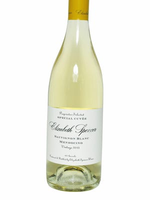 Elizabeth Spencer Sauvignon Blanc Ð 2013 is part of the next mixed case selected by Cai J. Palmer, the owner of Wine at Five on Purchase Street in Rye, May 5, 2015.