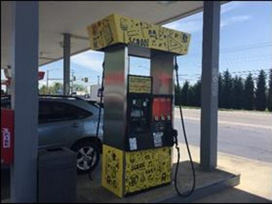 """Condon Oil and the Bonde's Quik Mart CITGO station in Cleveland have installed a """"Spirit Pump""""to help raise funds for the local PTO at Cleveland Elementary School."""