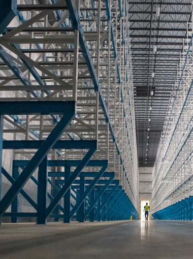 Interior of Win Chill, a new refrigerated warehouse, in Sioux Falls, S.D. on Tuesday, May 8, 2018.