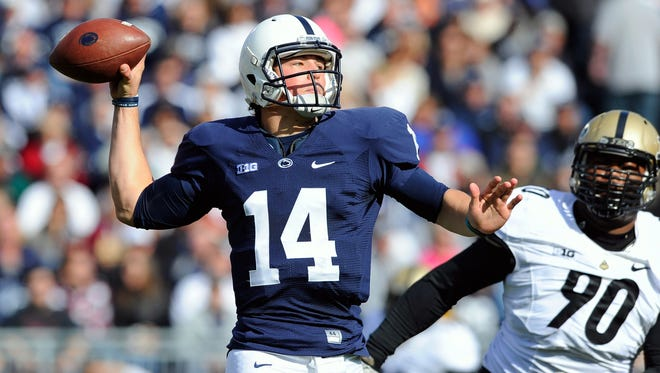 Penn State quarterback Christian Hackenberg passed for 20 touchdowns and nearly 3,000 yards as a freshman in 2013.