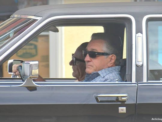 """Robert De Niro during filming of """"The Irishman"""" Sept. 21, 2017."""