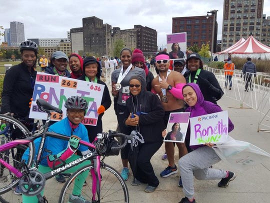 Some members of Black Girls RUN! running group came