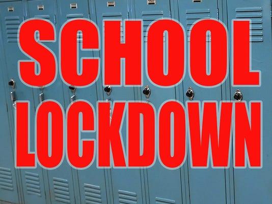 C-L School lockdown graphic
