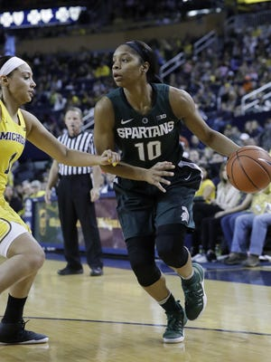 Michigan State guard Branndais Agee averaged 10 points per game last season.