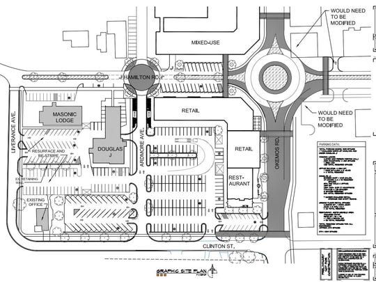 This site plan shows the development Kris Elliott intended