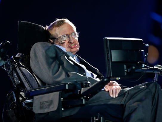 British physicist, Professor Stephen Hawking speaks