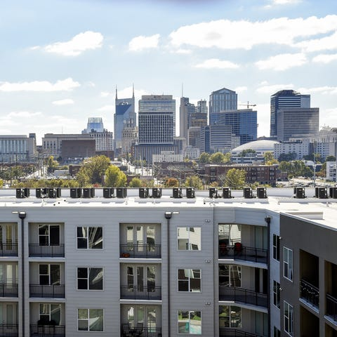 Germantown: A view of the Nashville skyline is...