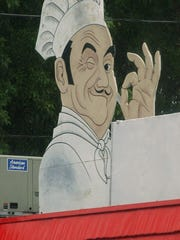 Schaller's well-known smiling chef greets customers in Greece.