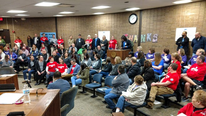 The Wayne-Westland school board had a full audience Monday night for when they decided to change the grade configuration in the district's school buildings.