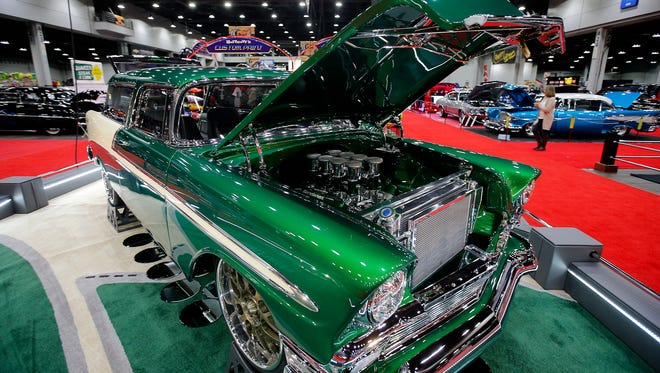 1956 Chevrolet Nomad. The annual KOI Cavalcade of Customs Car Show brought hundreds of custom cars, hotrods, motorcycles, and trucks, Friday, Jan. 6, 2017, at the Duke Energy Convention Center in downtown Cincinnati.