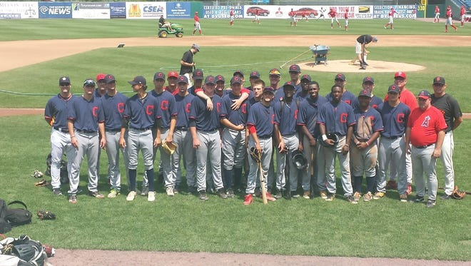 Enka's Matt Frisbee, Smoky Mountain's Cal Raleigh and Fletcher's Logan Allen played for a Cleveland Indians-sponsored team at the East Coast Pro Showcase in Syracuse, N.Y.