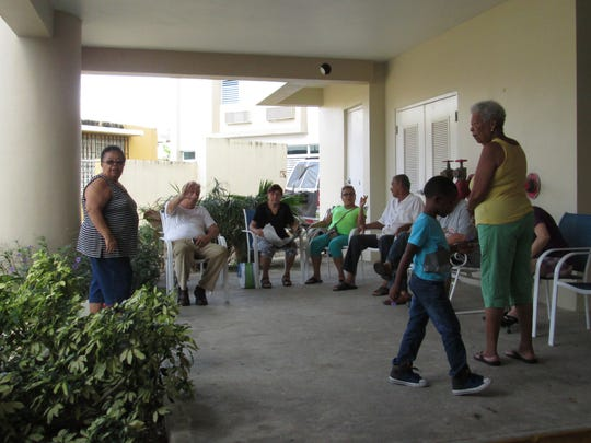 Residents of the five-story Égida Señora Perpetuo Socorro