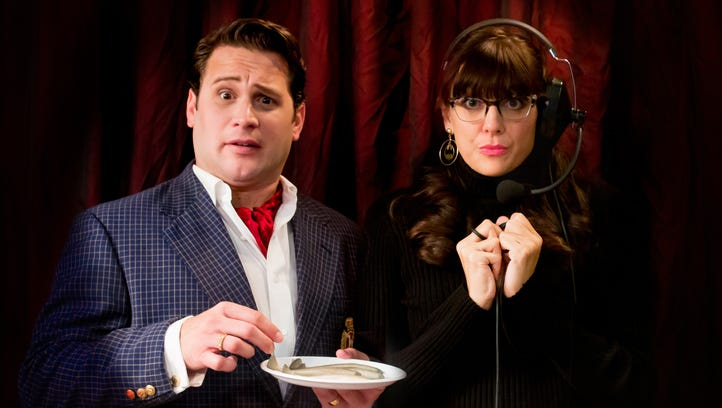 "Steven Kraski and Cori Anne Laemmel star in Nashville Rep's upcoming comedy ""Noises Off."""
