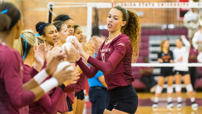 Florida State freshman middle blocker Taryn Knuth has made an immediate impact for the Seminoles this season.