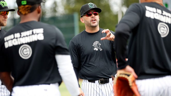 Eugene Emeralds manager Jesus Feliciano was arrested before the first game of his team's championship series.
