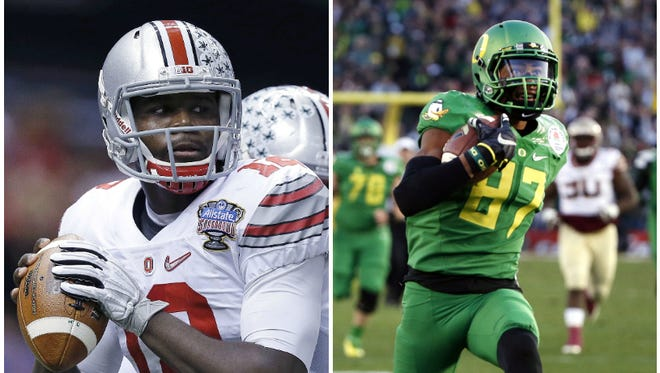 The Ohio Buckeyes and the Oregon Duck are playing in the first College Football Playoff Championship