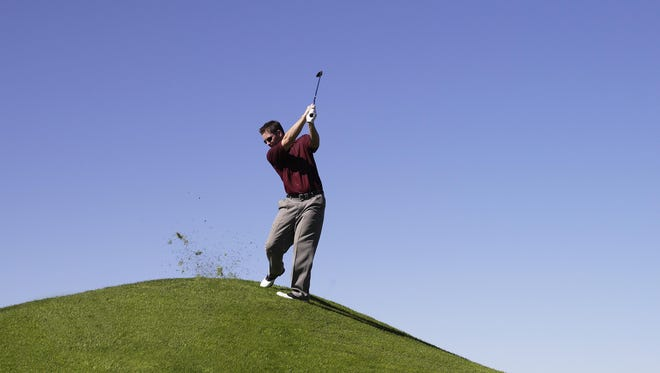 Hitting on the side of a hill can be a challenege. Daril Pacinella has the answer.
