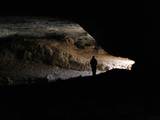 A guided hike to the 296-foot-long Natural Tunnel at