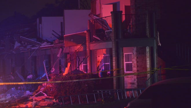 Some buildings at the Moors apartment complex on Old Spanish Trail were seriously damaged.