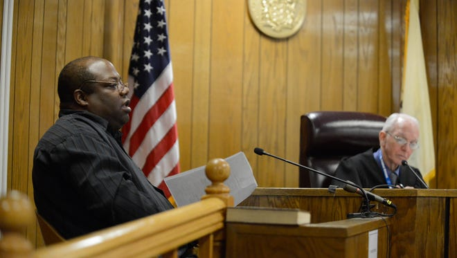 Teaneck resident Elie Jones in Superior Court in Hackensack on Thursday. Jones has filed a number of complaints against Teaneck township employees.