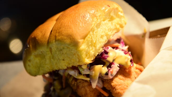 What the Cluck? That's the name of this ultimate chicken sandwich at Suns games.