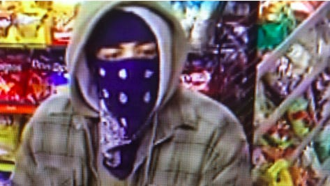 Police released a photo of this suspect in an armed robbery at Clark gas station on Jan. 9, 2017.