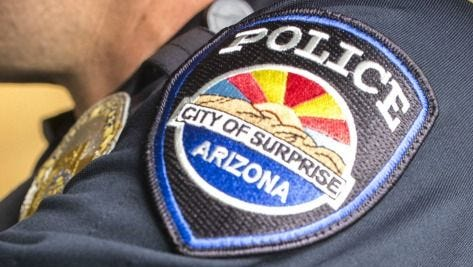 A Surprise Police Department badge.