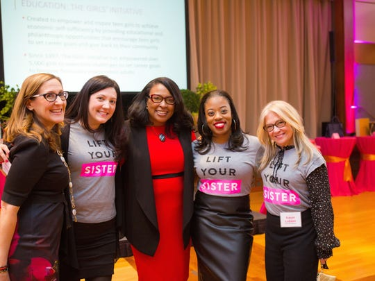 Pam Sherman, Alyssa Belasco, Mayor Lovely Warren, Jennifer Boutte and Susan Latoski.