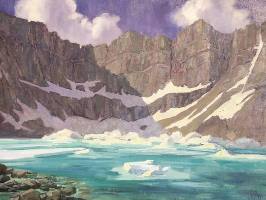 """Iceberg Lake"" is part of a new exhibition at the Hockaday"