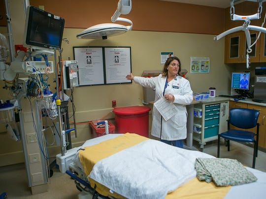 Mary Lamborn, trauma program manager at Wilmington Hospital talks about the benefits of Wilmington Hospital having a Trauma III health center, it now has the ability to have a helicopter pad to fly patients from Wilmington to Stanton.