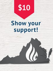 Corrected Virginia state map on Ted Cruz website on Tuesday, Feb. 16, 2016.