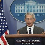 Dr. Anthony Fauci, firector of NIH/NIAID speaks about the Zika virus during the daily press briefing in the Brady Press Briefing Room at the White House on Feb. 8.