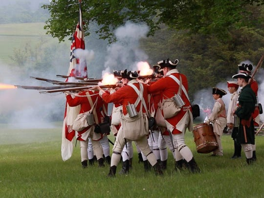 Battle of Monmouth and encampment at Monmouth Battlefield Park on June 20, 2015 in Freehold Township, NJ.