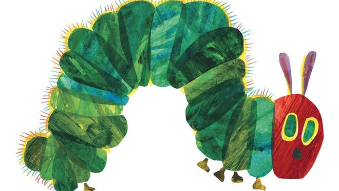 "A handout photo showing an Eric Carle illustration from his book ""The Very Hungry Caterpillar."" This year's Kids Book Fest will celebrate 20 years of giving Carle's book as a gift to welcome new babies in the community."