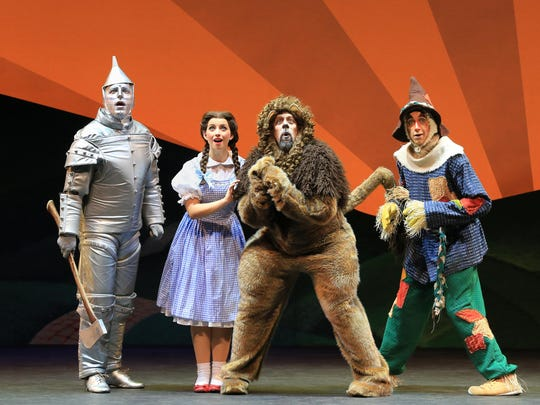 "The national tour of ""The Wizard of Oz"" stops at the"