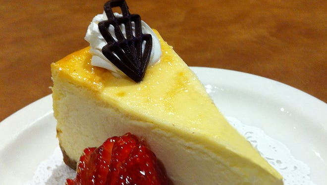 The traditional New York style cheesecake from Chompie's.