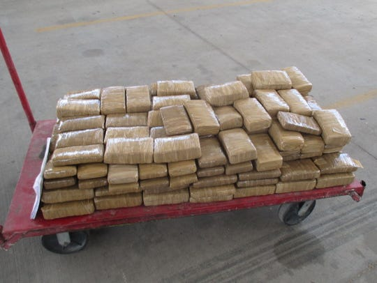 CBP officers confiscated 310 pounds of marijuana on