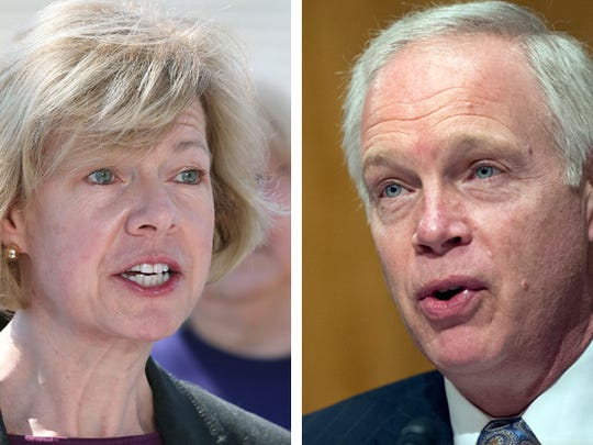 Wisconsin's U.S. senators Tammy Baldwin (left), a Democrat,