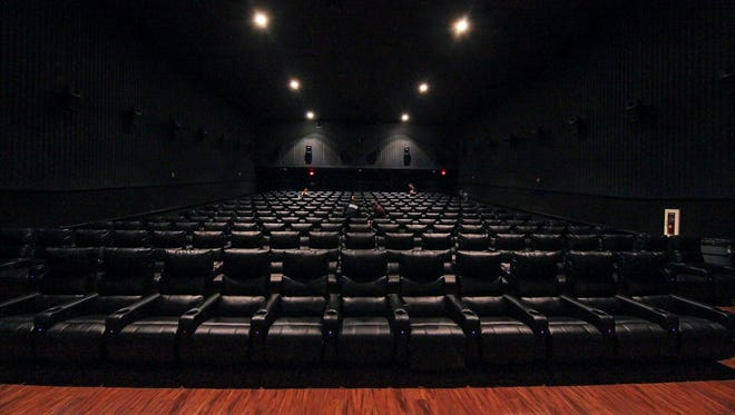The large, main theater at the old Cinema Center 3 in Newark is now a 211-seat, recliner-filled showcase at the new Main Street Movies 5.