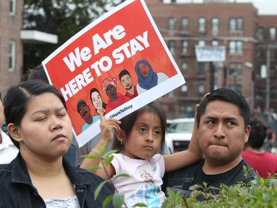 A rally in support of Westchester's Immigration Protection