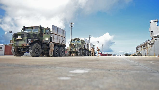 About 5,000 Marines, plus their dependents are set to relocate from Okinawa to Guam. Construction for a new Marine Corps base will require extra labor, yet there appears to be an unusual increase of denials and seemingly intended denials of H-2B petitions.