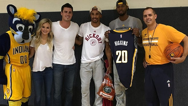 The Indiana Pacers appear in Monday's episode of The Bachelor with Warsaw native Ben Higgins.