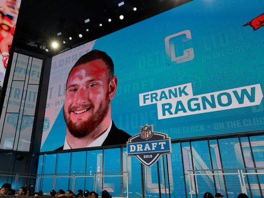 The Detroit Lions selected Frank Ragnow during the