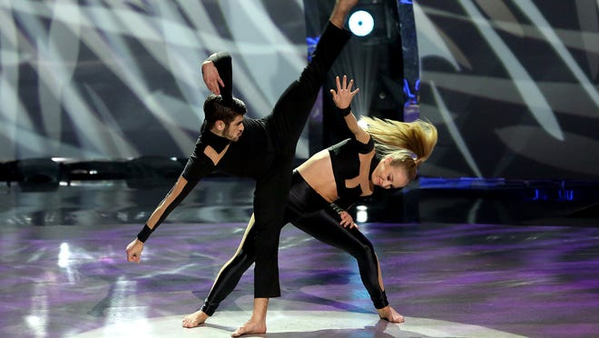 """Jessica Richens and Ricky Ubeda perform a jazz routine Aug. 27 on """"So You Think You Can Dance."""""""