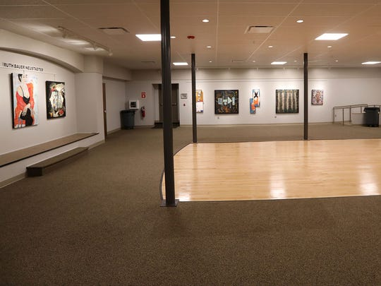 The lower level gallery of the Hackensack Performing Arts Center, is shown, Monday October 30, 2017.