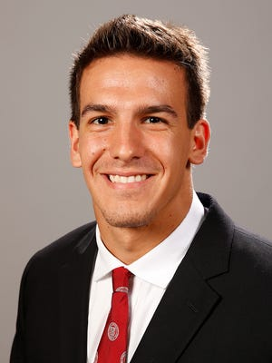 Senior Luke Hagy, the Ivy League's leading rusher entering the weekend, was injured on the game's first play Saturday as Cornell lost to Sacred Heart, 31-6. Hagy was kneed in the back of the head and did not return.
